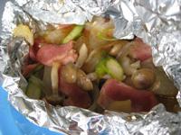 きのこ&夏野菜のホイル包み焼き