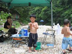 板取キャンプ場でデイキャンプ