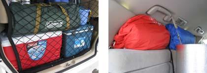 キャンプ道具・荷物を車へ積み込み3